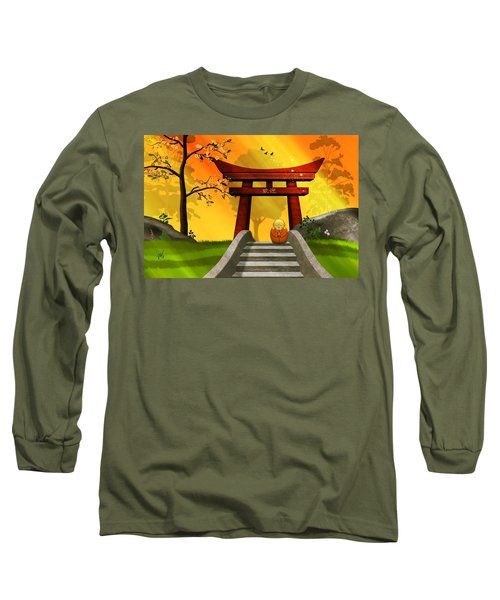 Asian Art Chinese Spring Long Sleeve T-Shirt by John Wills