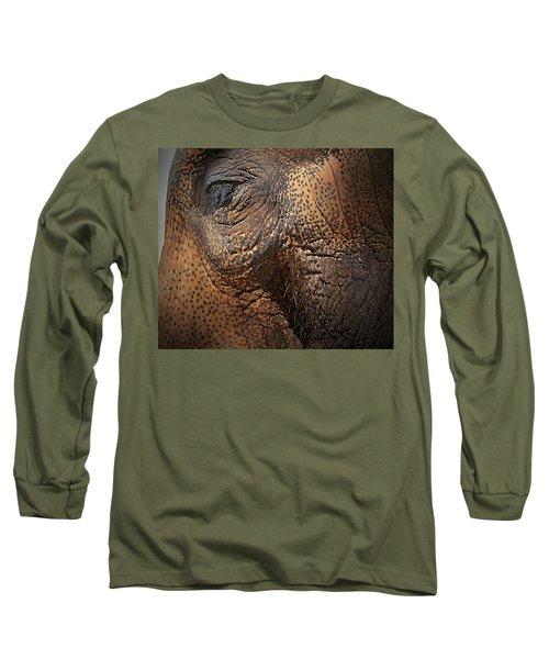 Asian Elephant Abstract Long Sleeve T-Shirt
