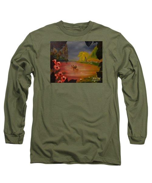Asian Lillies Long Sleeve T-Shirt by Denise Tomasura
