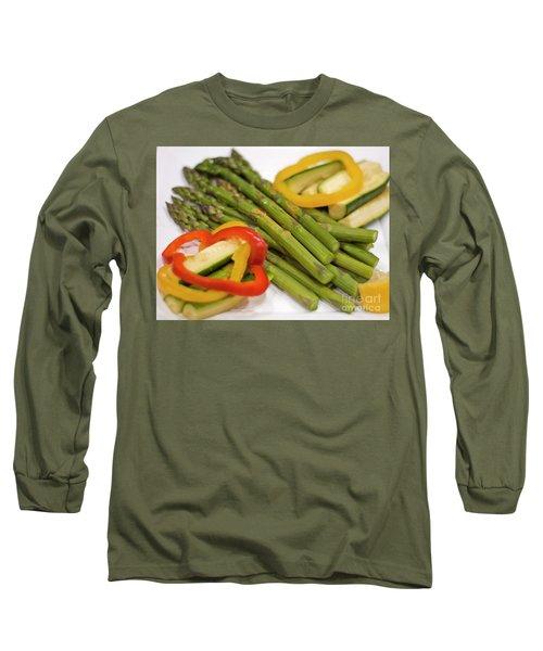 Asparagus Long Sleeve T-Shirt by Loriannah Hespe