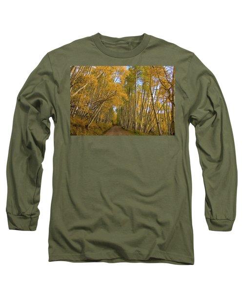 Long Sleeve T-Shirt featuring the photograph Aspen Alley by Steve Stuller