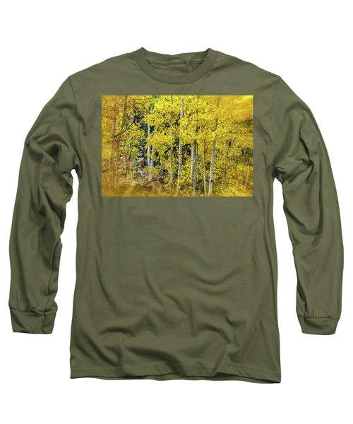 Long Sleeve T-Shirt featuring the photograph Aspen Autumn Burst by Bill Gallagher
