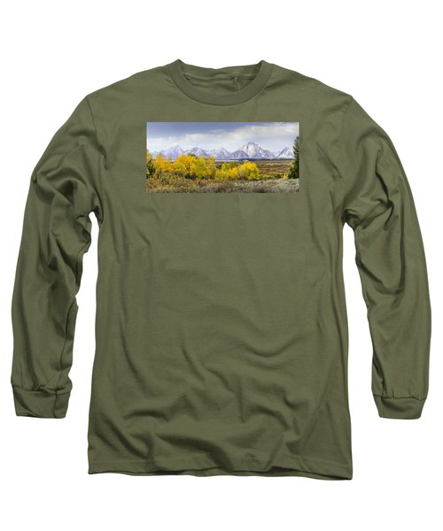 Aspen Gold In The Tetons Long Sleeve T-Shirt
