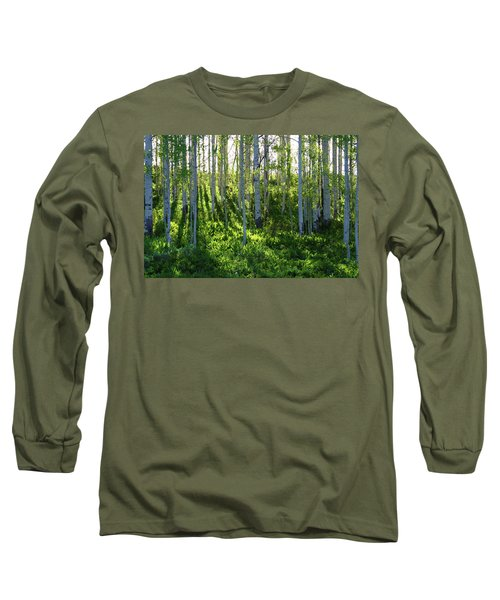 Long Sleeve T-Shirt featuring the photograph Aspen Morning 1 by Marie Leslie