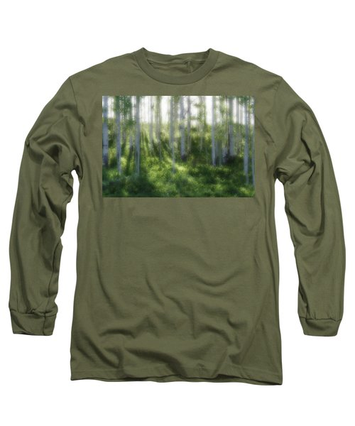 Long Sleeve T-Shirt featuring the photograph Aspen Morning 2 by Marie Leslie
