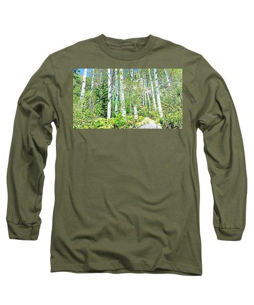 Long Sleeve T-Shirt featuring the photograph Aspen Splender Steamboat Springs by Joseph Hendrix