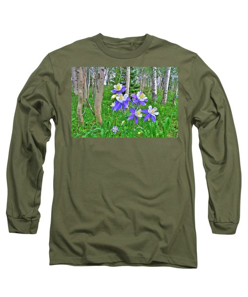 Aspens And Columbines Long Sleeve T-Shirt