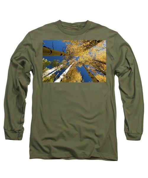 Long Sleeve T-Shirt featuring the photograph Aspens Up by Steve Stuller