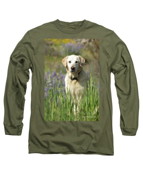 Long Sleeve T-Shirt featuring the photograph At Attention by Jim and Emily Bush