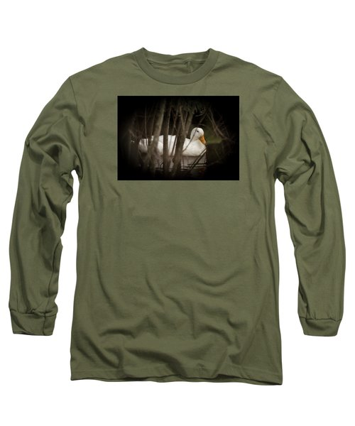 Long Sleeve T-Shirt featuring the photograph At Home In The Creek by E Faithe Lester