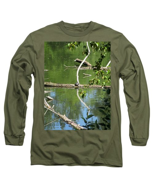 Long Sleeve T-Shirt featuring the photograph At The Crossroads by Marie Neder