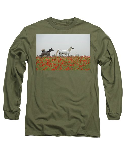 At The Poppies' Field... Long Sleeve T-Shirt by Dubi Roman