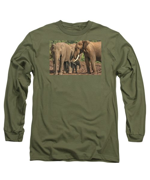 Long Sleeve T-Shirt featuring the photograph At The Salt Lick by Gary Hall