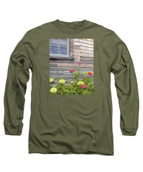 Long Sleeve T-Shirt featuring the painting At The Shelburne by Lynne Reichhart