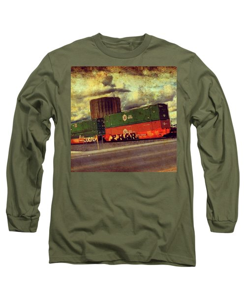 At The Train Crossing. Arizona  Long Sleeve T-Shirt
