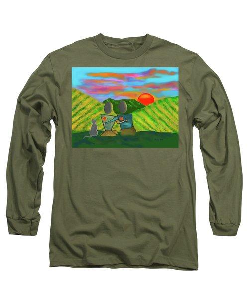 At The Vineyard Long Sleeve T-Shirt by Haleh Mahbod