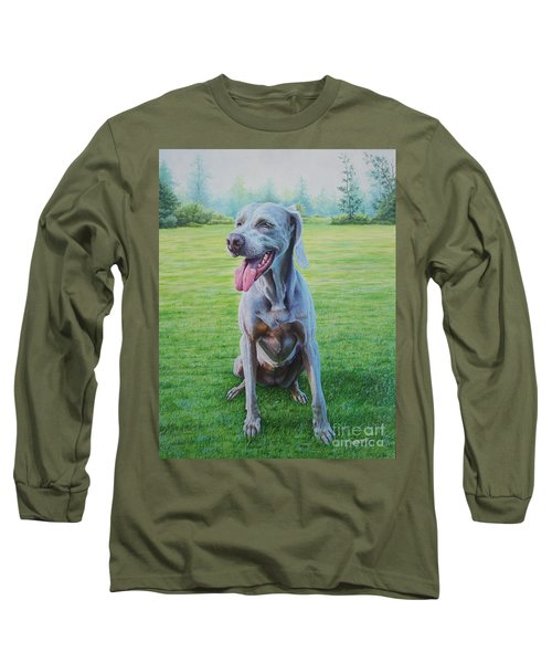 Long Sleeve T-Shirt featuring the painting Athena by Mike Ivey