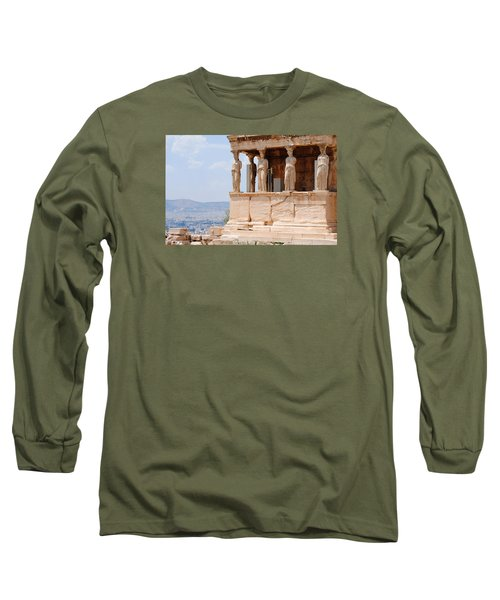 Long Sleeve T-Shirt featuring the photograph Erecthion by Robert Moss