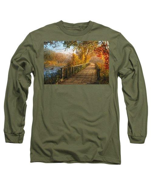 Atumn Emerging - Oil Paint Effect Long Sleeve T-Shirt