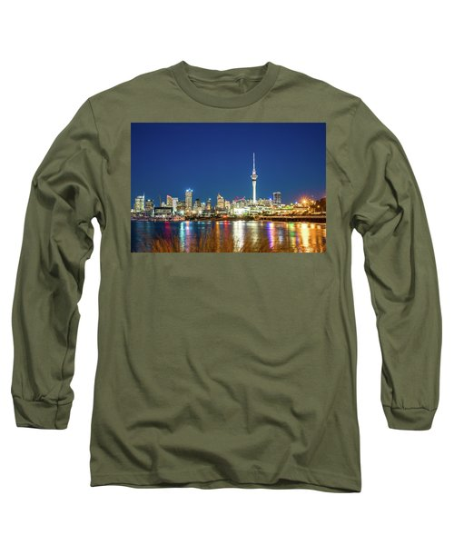 Auckland At Dusk Long Sleeve T-Shirt