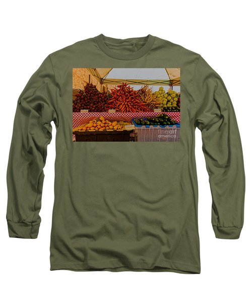 August Vegetables Long Sleeve T-Shirt by Trey Foerster
