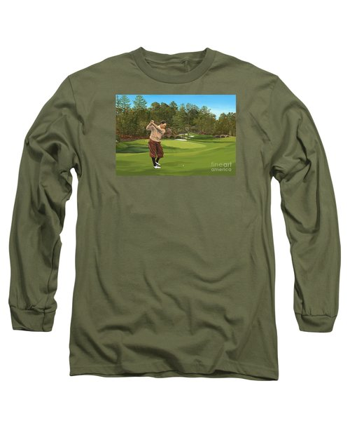 Augusta 11 And 12th Hole Bobbyjones Long Sleeve T-Shirt by Tim Gilliland