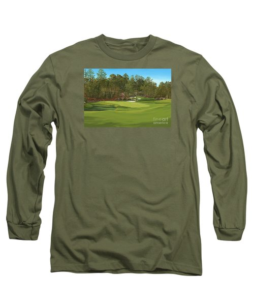 Augusta 11 And12th Hole Long Sleeve T-Shirt by Tim Gilliland