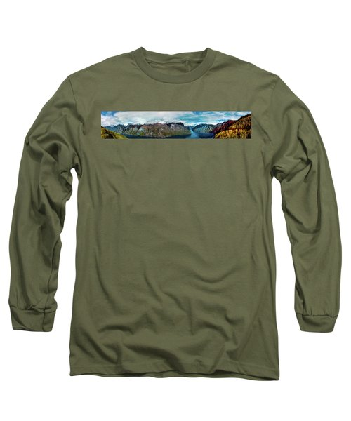 Aurlandsfjorden Panorama Revisited Long Sleeve T-Shirt