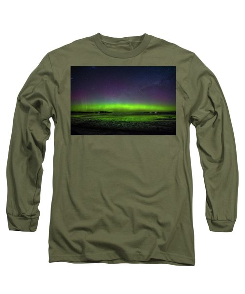 Long Sleeve T-Shirt featuring the photograph Aurora Australia by Odille Esmonde-Morgan