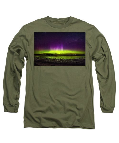 Long Sleeve T-Shirt featuring the photograph Aurora Australis by Odille Esmonde-Morgan