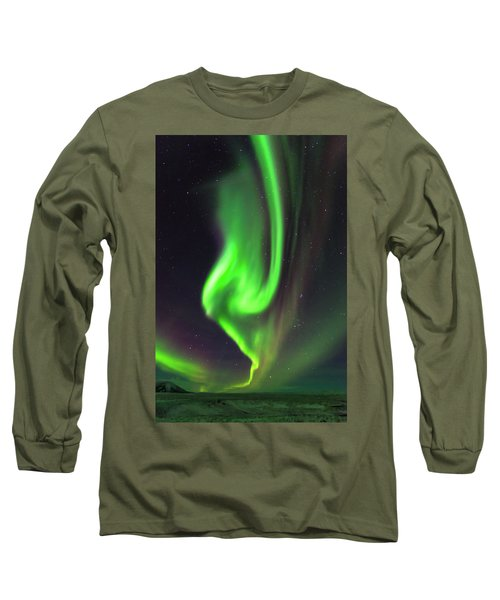 Aurora Burst Long Sleeve T-Shirt by Allen Biedrzycki