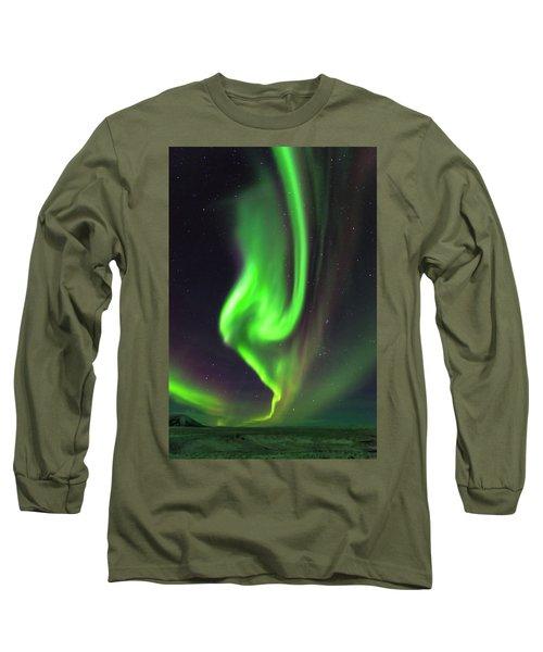 Long Sleeve T-Shirt featuring the photograph Aurora Burst by Allen Biedrzycki