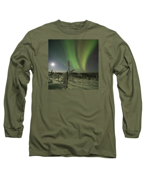 Aurora In The Hoar Frost Long Sleeve T-Shirt
