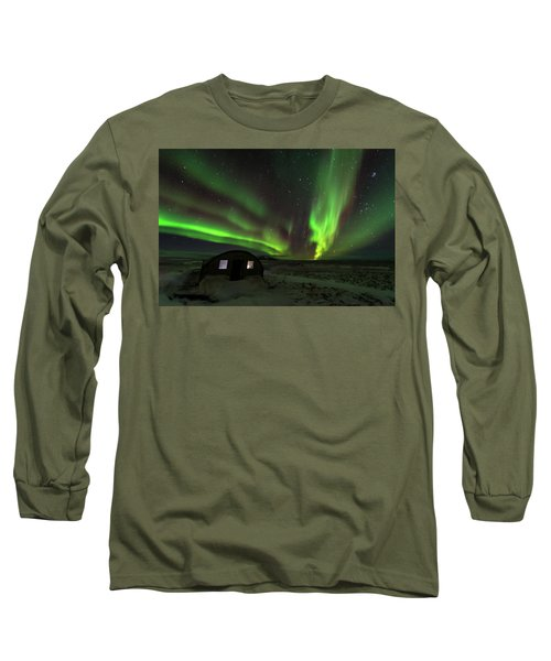 Aurora Storm Long Sleeve T-Shirt by Allen Biedrzycki