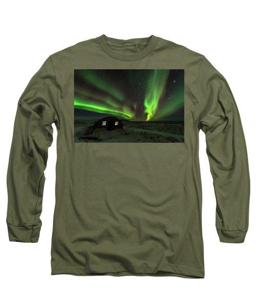 Long Sleeve T-Shirt featuring the photograph Aurora Storm by Allen Biedrzycki