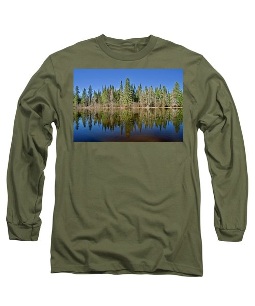 Long Sleeve T-Shirt featuring the photograph Ausable Reflections 1768 by Michael Peychich