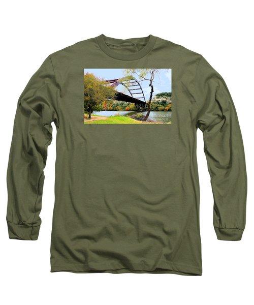 Austin Pennybacker Bridge In Autumn Long Sleeve T-Shirt by Janette Boyd