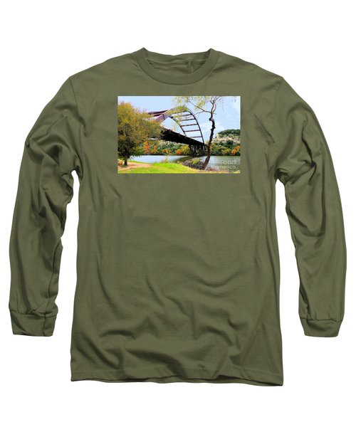 Austin Pennybacker Bridge In Autumn Long Sleeve T-Shirt