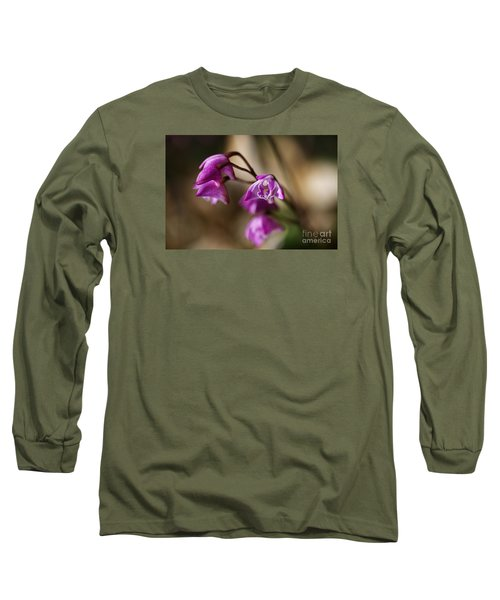 Australia's Native Orchid Small Dendrobium Long Sleeve T-Shirt