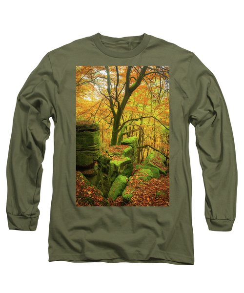 Long Sleeve T-Shirt featuring the photograph Automnal Glow by Maciej Markiewicz