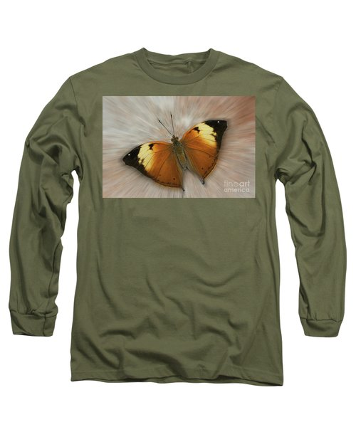 Autumn Leaf Butterfly Zoom Long Sleeve T-Shirt