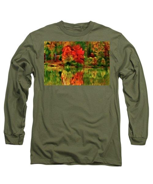 Autumn At The Lake-artistic Long Sleeve T-Shirt