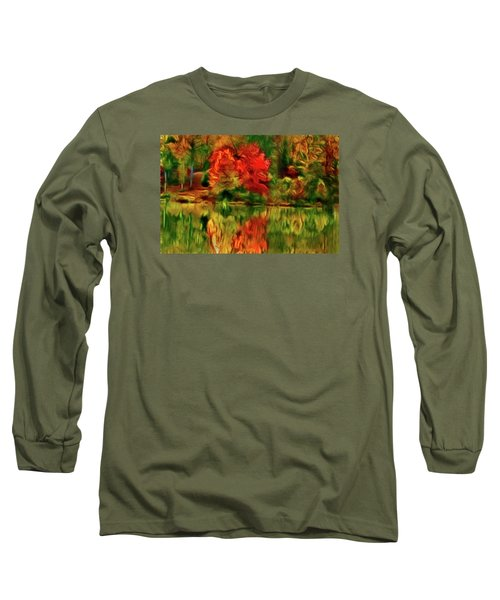 Autumn At The Lake-artistic Long Sleeve T-Shirt