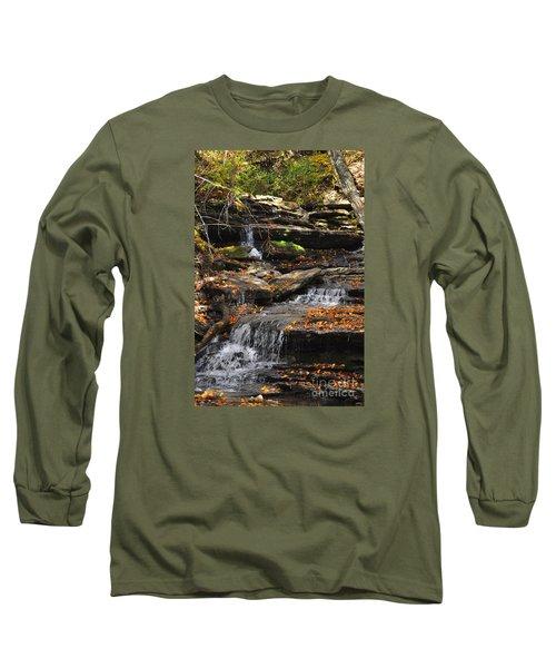 Autumn Brook Long Sleeve T-Shirt by Diane E Berry