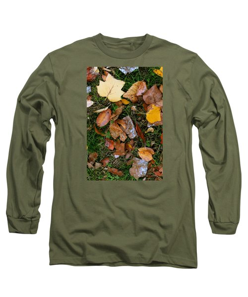 Long Sleeve T-Shirt featuring the photograph Autumn Carpet 001 by Dorin Adrian Berbier