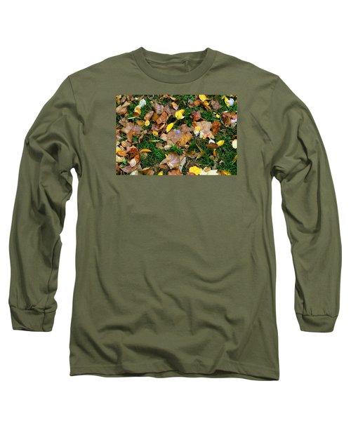 Long Sleeve T-Shirt featuring the photograph Autumn Carpet 002 by Dorin Adrian Berbier