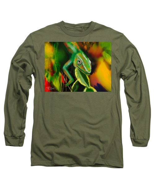Autumn Chameleon Long Sleeve T-Shirt by Diana Riukas