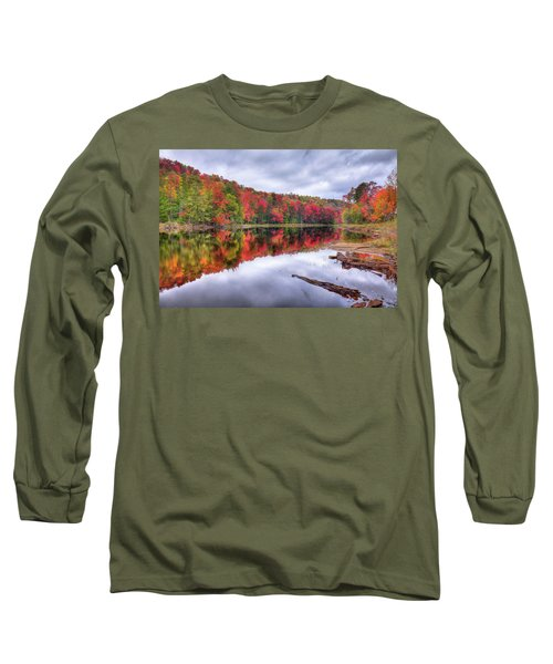 Long Sleeve T-Shirt featuring the photograph Autumn Color At The Pond by David Patterson