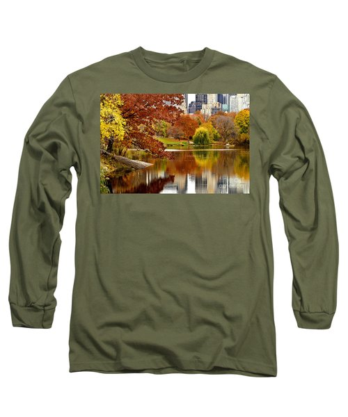 Autumn Colors In Central Park New York City Long Sleeve T-Shirt
