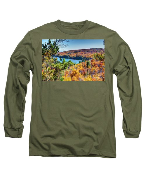 Autumn Colors Overlooking Lax Lake Tettegouche State Park II Long Sleeve T-Shirt